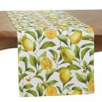 Saro 7014.M1672B 16 x 72 in. Lemons Design Outdoor Oblong Table Runner, Multi Color