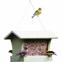Bird's Choice Green Solutions Green Plastic Hopper Bird Feeder, 3 Qt. GSHF200 - 1