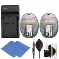 Replacement Battery For En-el15 Battery (2x) + Charger With Top Accessories