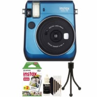 Fujifilm Instax Mini 70 Instant Film Camera Blue With Accessory Kit