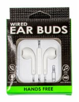James Paul Products Solid Color Wired Ear Buds - Assorted