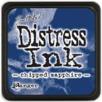 Tim Holtz Distress Mini Ink Pad-Chipped Sapphire - 1