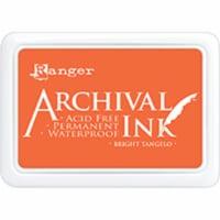 Ranger Archival Ink Pad #0-Bright Tangelo - 1