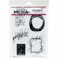 Dina Wakley Media Cling Stamps 6 X9 -Scribbled Text Elements - 1