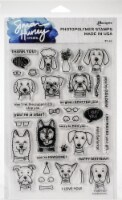Simon Hurley create. Clear Stamps 6 X9 -Puppy Puns - 1