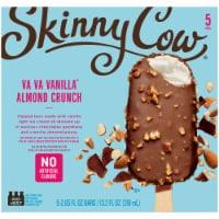 Skinny Cow Va Va Vanilla Almond Crunch Dipped Low Fat Ice Cream Bars 5 Count