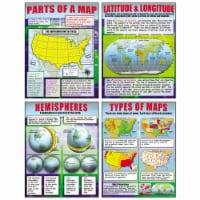 Basic Map Skills Teaching Poster Set - 1