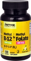 Jarrow Formulas Methyl B12 & Methyl Folate plus B6 Lemon Lozenges