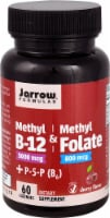 Jarrow Formulas Methyl B-12 & Methyl Folate Cherry Lozenges