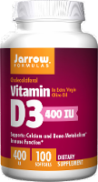 Jarrow Vitamin D-3 400IU Softgels