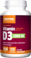Jarrow Formulas Vitamin D3 1000iu Softgels