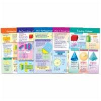 Math Bulletin Board Chart Set, Perimeter, Circumference, Area & Volume, Set of 5 - 1