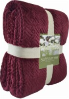 Berkshire Blanket Soft Shimmer Microplush Textured Blanket - Wine