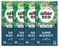 Alter Eco | Dark Chocolate Bars | Pure Dark Cocoa, Fair Trade, (4-Pack Super Blackout)