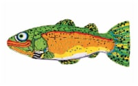 Fat Cat Multicolored Trout Canvas Dog Toy Large - Case Of: 1; - Count of: 1