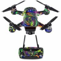 MightySkins DJSPCMB-Acid Skin Decal Wrap for DJI Spark Mini Drone Combo Sticker - Acid - 1