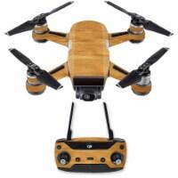 MightySkins DJSPCMB-Birch Grain Skin Decal for DJI Spark Mini Drone Combo Sticker - Birch Gra - 1