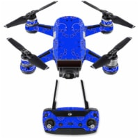MightySkins DJSPCMB-Blue Bandana Skin Decal for DJI Spark Mini Drone Combo Sticker - Blue Ban - 1