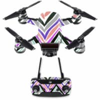MightySkins DJSPCMB-Colorful Chevron Skin Decal for DJI Spark Mini Drone Combo - Colorful Che - 1