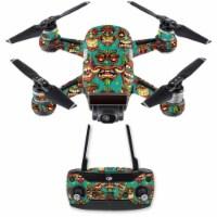MightySkins DJSPCMB-Crazy Tikis Skin Decal for DJI Spark Mini Drone Combo Sticker - Crazy Tik - 1