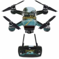 Mightyskins DJSPCMB-Difficult Roads Skin Decal for DJI Spark Mini Drone Combo - Difficult Roa - 1