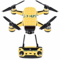 Mightyskins DJSPCMB-Dogs Over Humans Skin Decal for DJI Spark Mini Drone Combo - Dogs Over Hu - 1