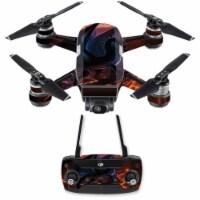 Mightyskins DJSPCMB-Fire Dragon Skin Decal for DJI Spark Mini Drone Combo Sticker - Fire Drag - 1