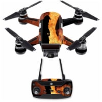 Mightyskins DJSPCMB-Fire Fighter Skin Decal for DJI Spark Mini Drone Combo Sticker - Fire Fig - 1