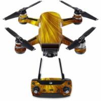 MightySkins DJSPCMB-Golden Locks Skin Decal for DJI Spark Mini Drone Combo Sticker - Golden L - 1
