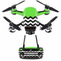 MightySkins DJSPCMB-Lime Chevron Skin Decal for DJI Spark Mini Drone Combo Sticker - Lime Che - 1