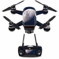 MightySkins DJSPCMB-Moon Skin Decal Wrap for DJI Spark Mini Drone Combo Sticker - Moon - 1