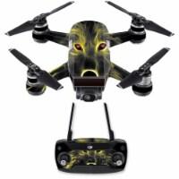 MightySkins DJSPCMB-Neon Wolf Skin Decal for DJI Spark Mini Drone Combo Sticker - Neon Wolf - 1