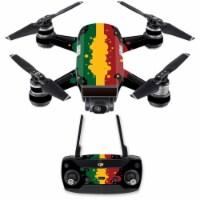 MightySkins DJSPCMB-Rasta Flag Skin Decal for DJI Spark Mini Drone Combo Sticker - Rasta Flag