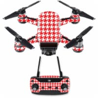 MightySkins DJSPCMB-Red Houndstooth Skin Decal for DJI Spark Mini Drone Combo - Red Houndstoo