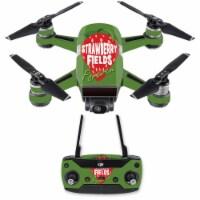 MightySkins DJSPCMB-Strawberry Fields Forever Skin for DJI Spark Mini Drone Combo - Strawberr - 1