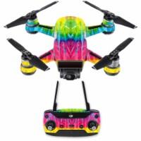 MightySkins DJSPCMB-Tie Dye 2 Skin Decal for DJI Spark Mini Drone Combo Sticker - Tie Dye 2