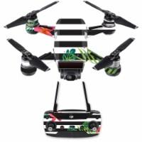 MightySkins DJSPCMB-Tropical Stripes Skin Decal for DJI Spark Mini Drone Combo - Tropical Str - 1