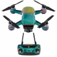 MightySkins DJSPCMB-Watercolor Blue Skin Decal for DJI Spark Mini Drone Combo - Watercolor Bl