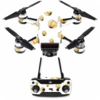 MightySkins DJSPCMB-Yellow Poppy Skin Decal for DJI Spark Mini Drone Combo Sticker - Yellow P