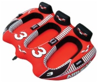 AIRHEAD AHVI-F3 Viper 3 Triple Rider Cockpit Inflatable Towable Tube w/ Tow Rope