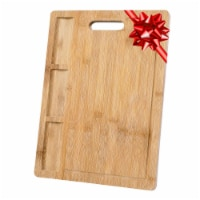 Extra Large Bamboo Cutting Board, 17x12.5  Wood Cutting Board for Meat Cheese Veggies - 1