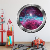 VWAQ Space Porthole, Milky Way Wall Decal, Universe Wall Stickers - PS27 - 1