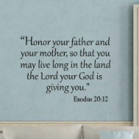 VWAQ Honor Your Father and Your Mother, So That You May Live Long In The Land Wall Decal - 1