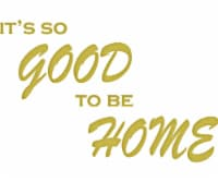 VWAQ It's So Good to Be Home Vinyl Wall Decal Family Wall Quote Sticker Lettering - 1