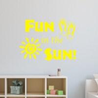 VWAQ Fun in The Sun Sticker - Fun Wall Decals Quotes - Sun Vinyl Wall Art - 1