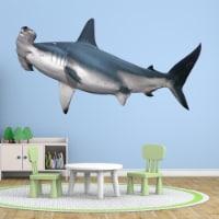VWAQ Hammerhead Shark Peel and Stick Wall Decal Ocean Room Decor - PAS7 - 1
