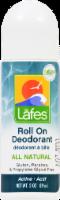 Lafe's All Natural Roll On Deodorant - 3 fl oz