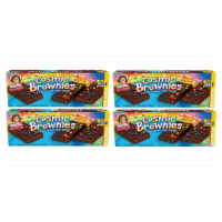 Cosmic Brownie Big Packs, 4 Boxes, 48 Individually Wrapped Brownies with Chocolate Chip Candy - 48