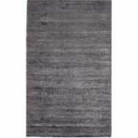 Rugs America 25273 Kendall Gunmetal Rectangle Solid Rug, 8 x 10 ft.