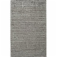 Rugs America 25281 Kendall Silky Gray Rectangle Solid Rug, 5 x 8 ft. - 1